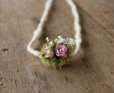 Botanical Tieback Newborn Photo Prop by emmaruthdesigns on Etsy, $16.00