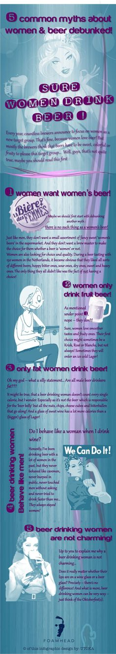 Who says women don't like beer? 5 'women & beer' myths debunked.