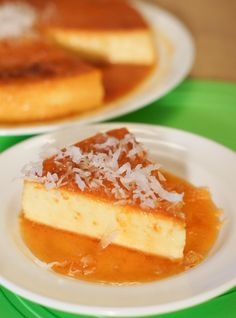 Coconut Flan ~ This luscious dessert is not only beautiful, but really simple to make and a great treat for any occasion.