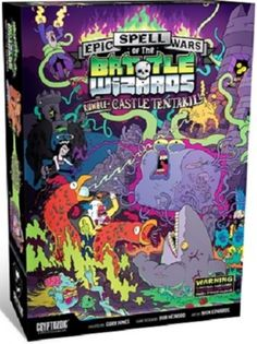 The sleeper hit has awakened! Epic Spell Wars of the Battle Wizards: Rumble at Castle Tentakill is finally here and it's loaded with all-new ways to deliver a smoking death to all who oppose you. Board Game Box, Board Game Design, Games Box, Epic Games, Bomber Game, Alone Game, Sleeper Hit, Bored Games, Family Night
