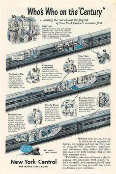 The New York Central Railroad, World War II, Vintage Graphics Train Posters, Railway Posters, Train Art, By Train, Vintage Travel Posters, Vintage Ads, Vintage Trains, Bus Travel, Train Travel