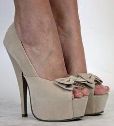 Damen Plateau High Heels Pumps Beige Peeptoes Schuhe Größe 36 37 38 39 40 41: Amazon.de: Schuhe & Handtaschen - StyleSays