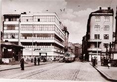 Masarykovo náměstí-Dům obuvi Baťa Century Hotel, Mid Century, Central Europe, Czech Republic, Architecture Design, Street View, Store, Historia, Architecture