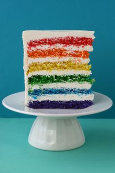 how to make a rainbow cake!  (i.e. commission my friend amy to make you one)  in tampa http://the-sweets.blogspot.com/