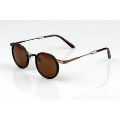 Bronze Retro Small Round #Sunglasses.