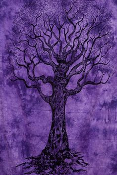 Purple Hippie Tree of life Wall Hanging tree by Rajasthancreations