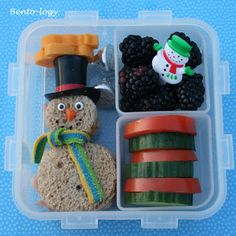 Get festive during the winter season with a snowman shaped sandwich!