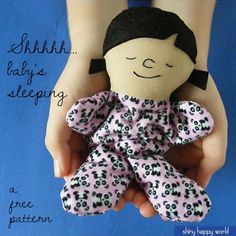 Gratis Patrón - Tiny Sleepy Baby Doll de Shiny Happy World