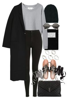 """""""Untitled #10952"""" by nikka-phillips ❤ liked on Polyvore featuring ASOS, Acne Studios, Topshop, Miu Miu and Yves Saint Laurent"""