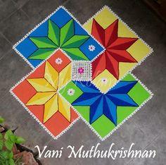 Rangoli Designs Simple Diwali, Rangoli Designs Latest, Rangoli Designs Flower, Free Hand Rangoli Design, Rangoli Border Designs, Small Rangoli Design, Rangoli Patterns, Rangoli Ideas, Rangoli Designs With Dots