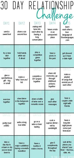 30 Day Relationship Challenge   To The Altar And After