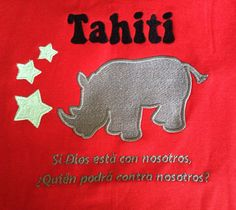 Bordado para espalda platero tipo polo. Tahití