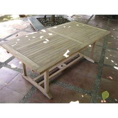 Ausziehbarer Teak-Tisch Gartentisch 160/220 x 100 x 75 cm