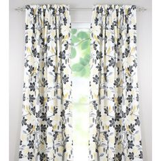 Brite Ideas Living Rod Pocket Curtain Panel 54 by 108Inch Small Talk Blackbird -- Check this awesome product by going to the link at the image.