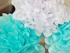 8 Tissue Poms- Frozen Party