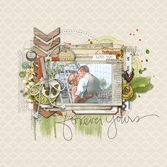 forever yours. A digital Scrapbook Layout. #shopdesignerdigitals #wedding