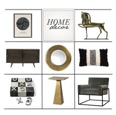 """Home Decor"" by kathykuohome ❤ liked on Polyvore featuring interior, interiors, interior design, home, home decor, interior decorating, livingroomdecor and homedeecor"