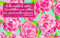 In the midst of winter -- Lilly Pulitzer desktop wallpaper