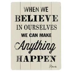 When We Believe Wall Decor Add a touch of inspiration to your day with this motivational planked wall decor, a perfect addition to your workout room or home office.