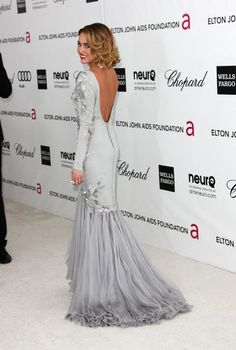 Miley Cyrus - At the Elton John AIDS Foundation Academy Awards Party in Beverly Hill, California.  (February 2012)