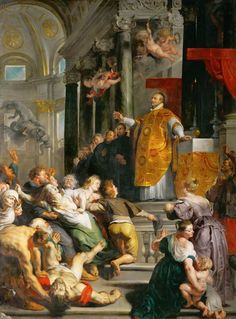 Miracle of Saint Ignatius Loyola Painting Artist: Peter Paul Rubens Location: Kunsthistorisches Museum Peter Paul Rubens, Pedro Pablo Rubens, Art Du Temps, St Ignatius Of Loyola, Kunsthistorisches Museum Wien, National Gallery, Exhibition, Museum Of Fine Arts, Religious Art