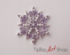 This little snowflake ornament is just like a jewel for your Christmas tree! You can use it for winter decoration, wedding favor, gift topper, etc. The snowflake could be the perfect present. It is gift packaged. The snowflake is made in quilling technique, also knows as paper #giftpackaging