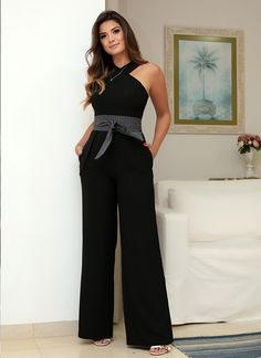 Trina Turk 'Kirstyn' Stretch Jumpsuit available at Denim Fashion, Fashion Outfits, Womens Fashion, Fashion Fashion, Jumpsuit Outfit, Dress Codes, Casual Chic, Dress To Impress, Editorial Fashion