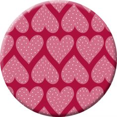 "Laetitia Haas badge (45 mm) ""Purple Hearts"""