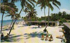 Crandon Park Cabanas~Key Biscayne FL~1962