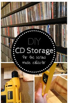 DIY CD Storage: How to build your own CD shelves.