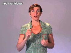gebarenliedje: Januari, februari, de maanden van het jaar - YouTube