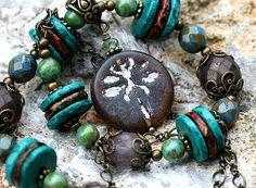 Boho Dragonfly necklace Turquoise Brown by MayaHoneyJewelry, $28.00  Coupon Code for 10% discount - PIN10MH