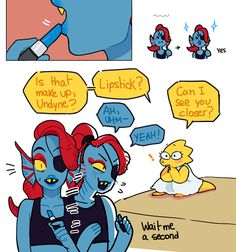 Awe cx  This is so cute! You get her Undyne! ≧◡≦