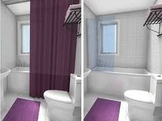 Resultado de imagen para curbless shower in a small bathroom