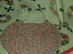 32 Inch Scrappy Round Fabric Crocheted in Colors of by pdqdesigns, $101.87