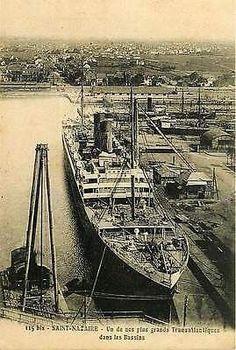 Saint Nazaire Loire Atlantique France 1906 Largest Transatlantic Basin Postcard