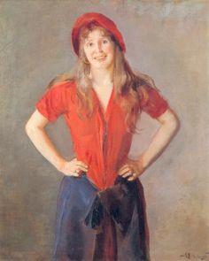 Portrait of Oda Krohg by Christian Krohg