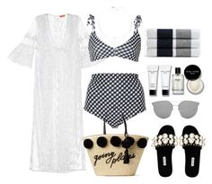 """""""Untitled #4115"""" by theeuropeancloset on Polyvore featuring Camp Cove, Kate Spade, Miu Miu, Gentle Monster, Bobbi Brown Cosmetics and James Perse"""