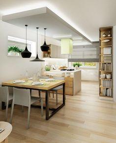 Kuchyně čisté linie