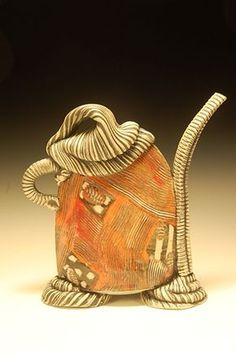 Allied Craftsmen of San Diego - Lana Wilson Clay Teapots, Teapots And Cups, Teacups, Pottery Pots, Ceramic Pottery, Slab Pottery, Pottery Ideas, Cute Teapot, Teapots Unique