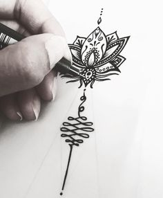 Lotus • Unalome ❤ • • • #helenalloretart #lotusflower #lotus #flower #flowers #tattoo #tattoos #unalome #flordeloto #tattooing #ink #inked #art #arte