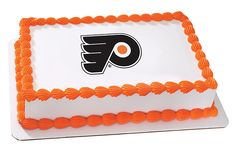 NHL Philadelphia Flyers Hockey Team Logo - Edible Image Cake / Cupcake Topper Personalized Licensed Icing / Frosting Sheet