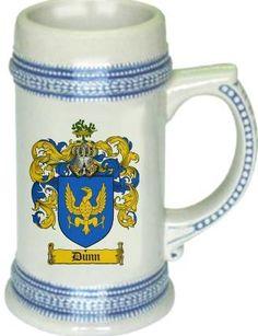 Dunn Coat of Arms Stein / Family Crest Tankard Mug: Dunn Family Crest Stein / Coat of Arms Beer Tankard. We… #UKOnlineShopping #UKShopping