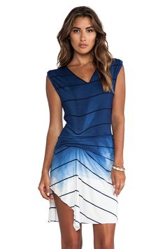 Saint Grace Riza Ombre Stripe Jersey Dress in Liberty OW from REVOLVEclothing