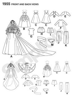 S1955 Special occasion doll clothes