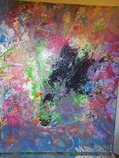 GRAFFITI ABSTRACT CANVAS PAINTING BY MUSK YAI 16X20 ooak 357 SUBLIME  #WILD