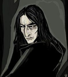 Severus Snape .....sweet dreams, professor .............................................. everything not mine illustrator + photo reference