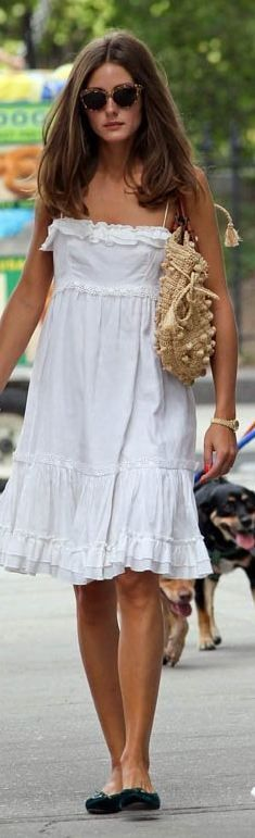 Olivia Palermo in the perfect sundress look