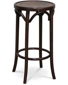 Hoop bar stool - walnut, 68cm - Cintesi