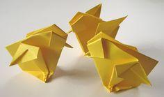 Origami: Påskefugle - ugens fold 2010-12